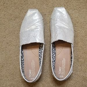 Silver Toms shoes